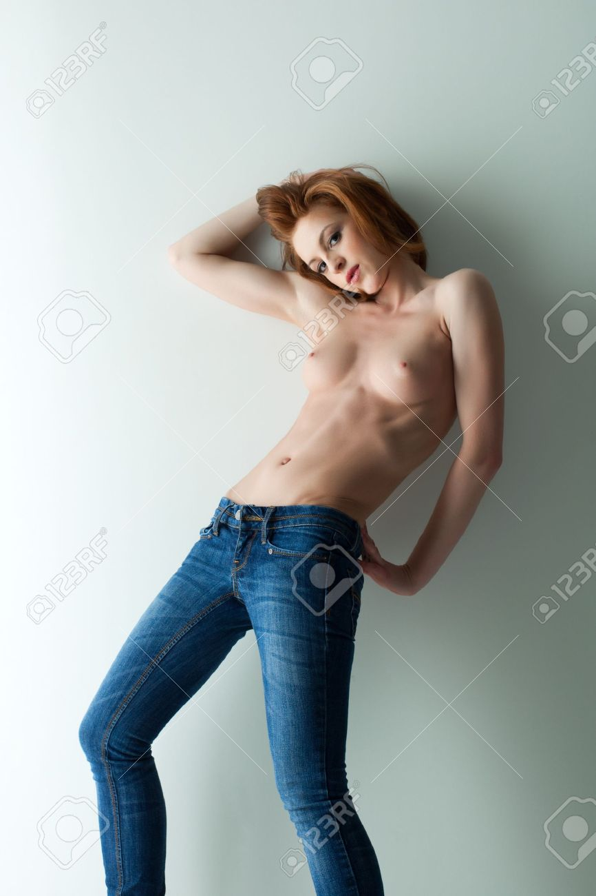 Topless girls and jean