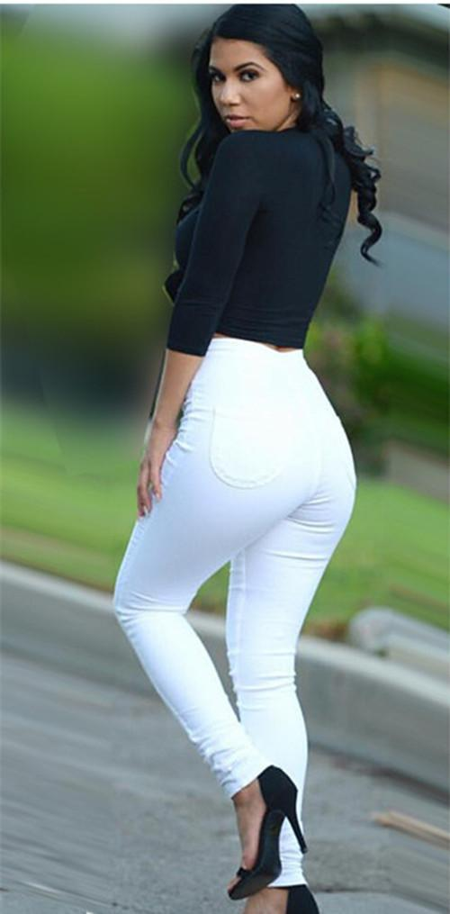 Ass in white pants