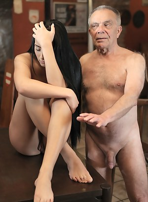 Naked old mans and girls