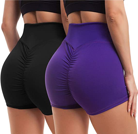 Big ass in spandex shorts