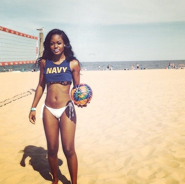 Black volleyball players nude
